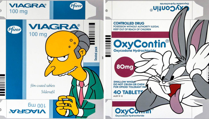 Australian Artist Associates Medicine With Popular Characters By Drawing Them On Packaging
