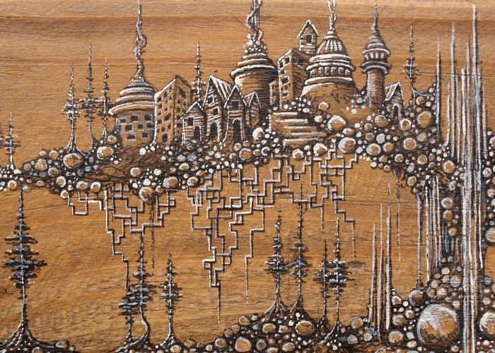 Fantasy Illustrations On Wood