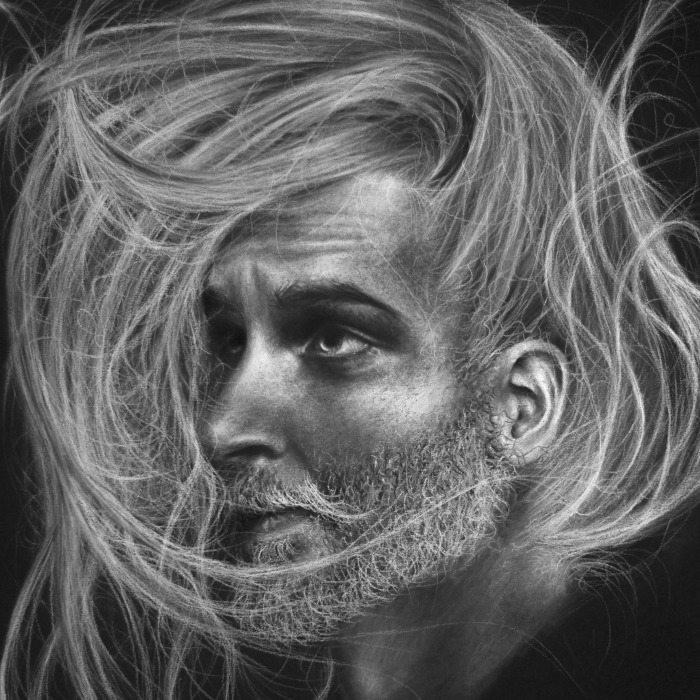 Stunning Charcoal And Chalk Portrait Drawings