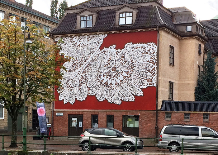 I Cover City Streets In Lace Street Art (Part 4)