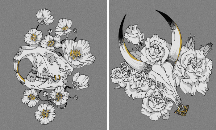 I Created Animal Skull Tattoo Designs Based On The 12 Chinese Zodiacs