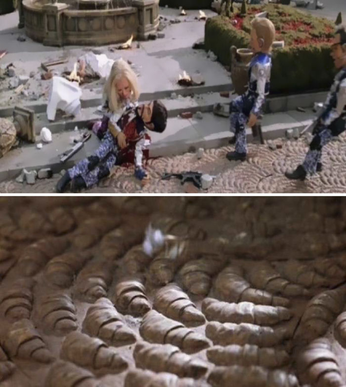 In Team America: World Police, The Paris 'Set' Has A Floor Made Of Croissants