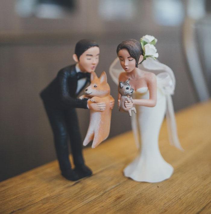 incluyeron sus mascotas en sus bodas