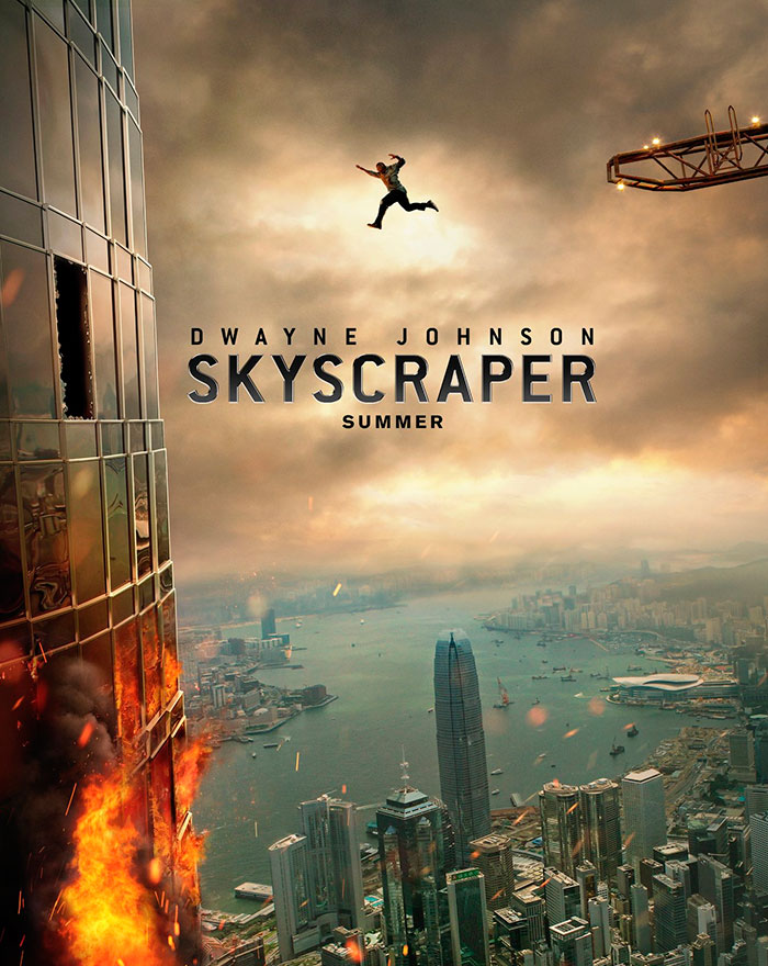 Image result for skyscraper movie poster