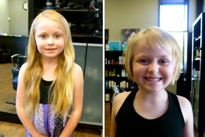 My 6-Year-Old Daughter Cut Off Over 13 Inches Of Her Hair To Donate!