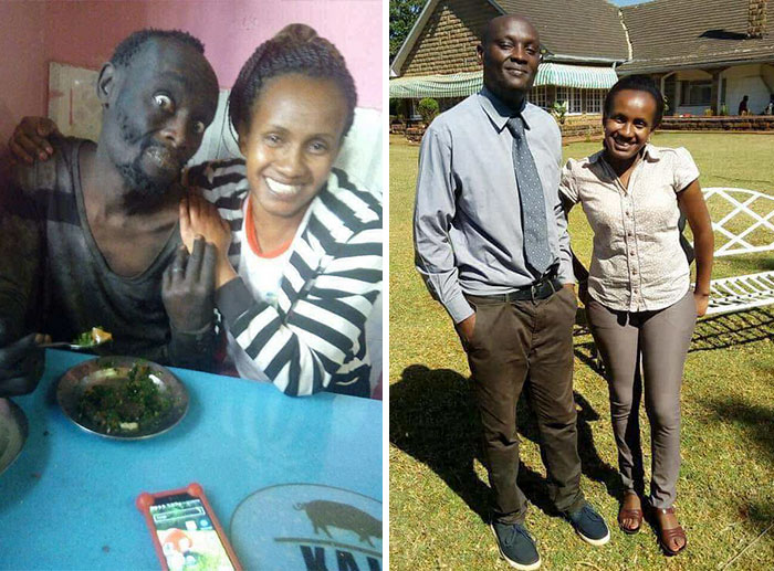 A Kenyan Lady Found Her Childhood Friend On The Streets Suffering From Drug Addiction And Took Him To Rehabilitation