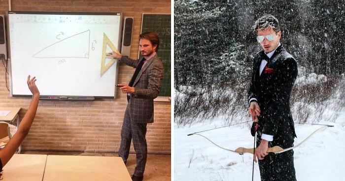 Me han dicho que os gustan los profesores guapos, así que os presento a mi profe de matemáticas