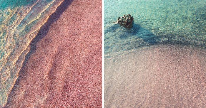 49ad85260184b4 Pinkish Sand Of Elafonisi Beach, Crete | Bored Panda