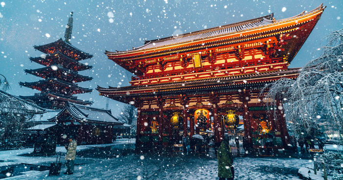 i captured tokyo covered by heavy snow bored panda. Black Bedroom Furniture Sets. Home Design Ideas