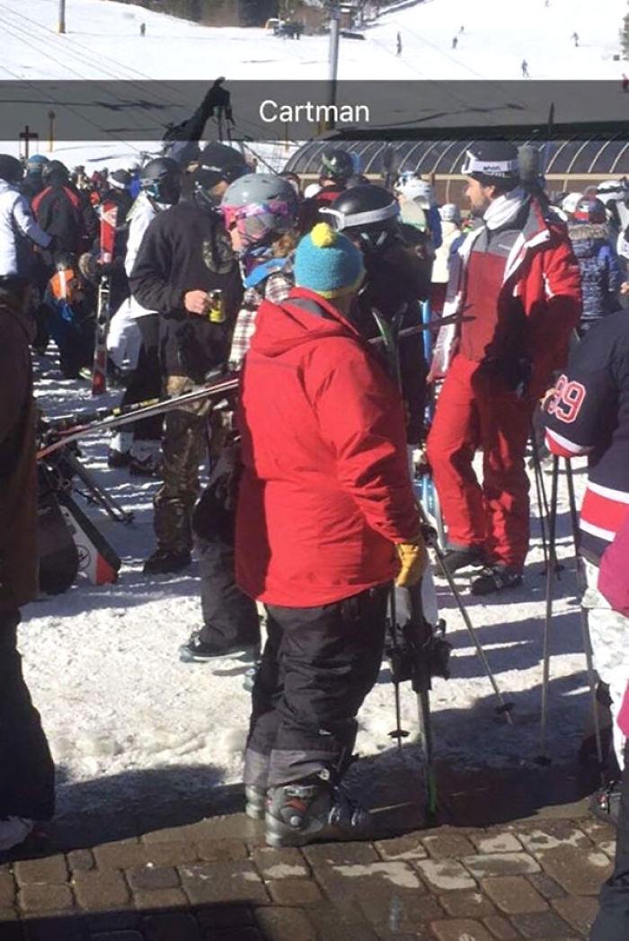 Mi colega ha encontrado a Cartman en las pistas de esquí
