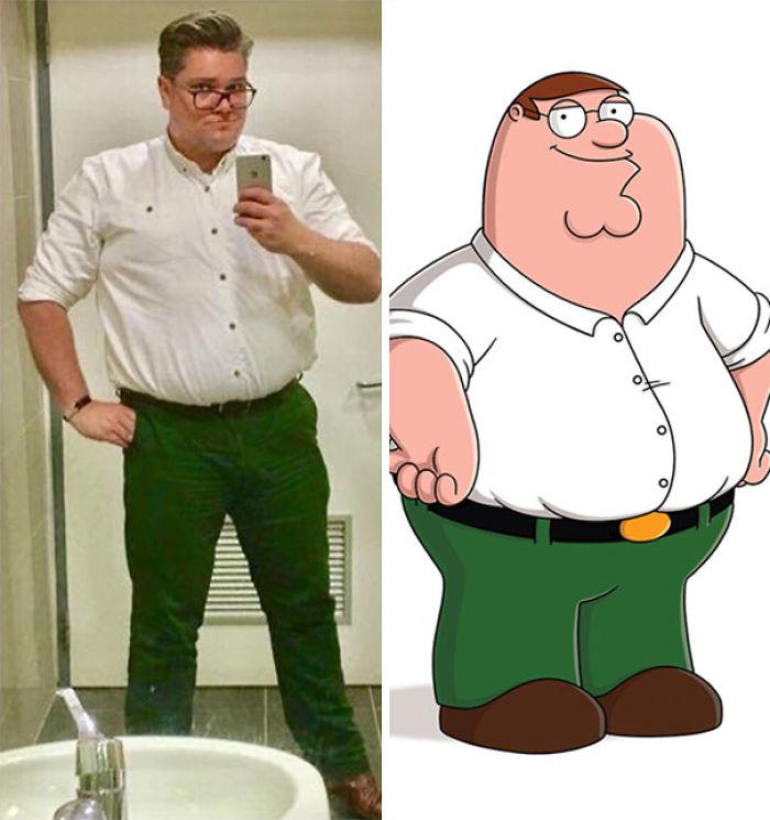Mi amigo se dio cuenta de repente de que parecía Peter Griffin