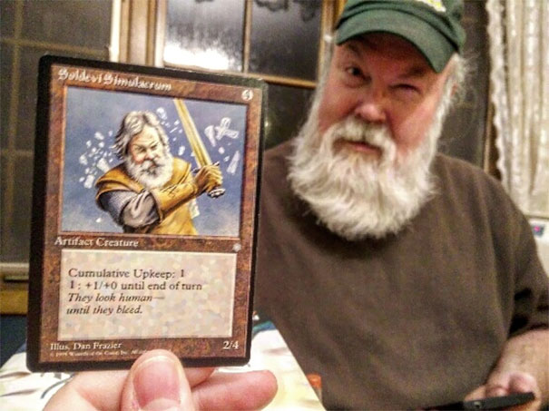 My Dad Looks Just Like This Magic The Gathering Card