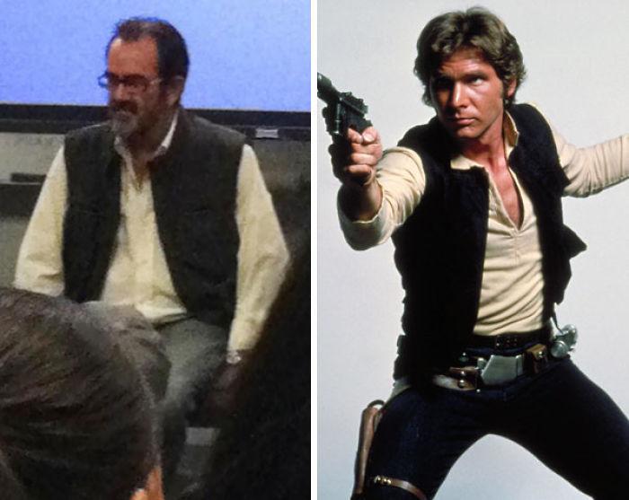 Mi profesor se vistió de Han Solo sin querer