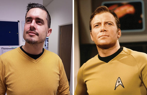 Today My Workmate Accidentally Came To Work Dressed As Captain Kirk