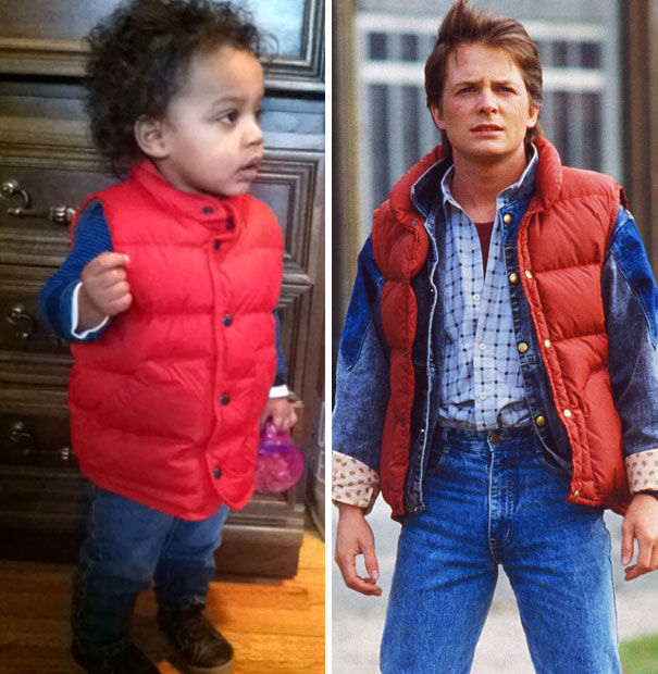 About 2 Hours After Leaving The House, I Realized I Accidentally Dressed The Baby Up As Marty Mcfly