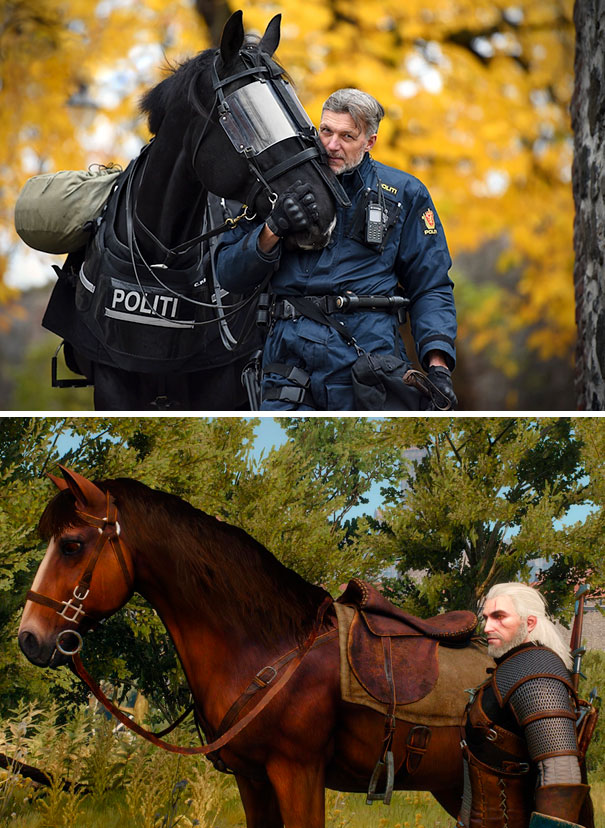 Accidental Geralt From Witcher Cosplay