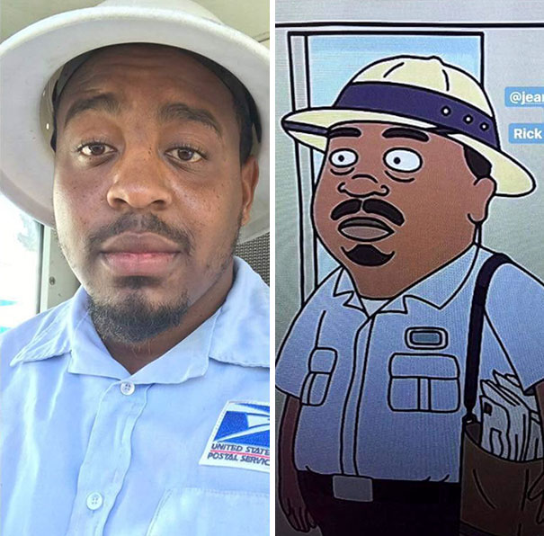 A Facebook Friend Of Mine Looks Like The Mailman From Rick And Morty