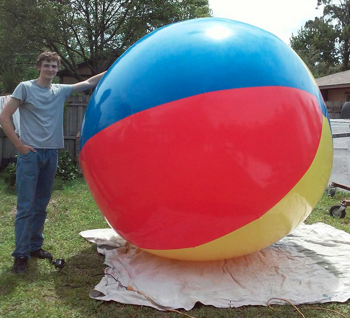 With oversized balls man The Perilous
