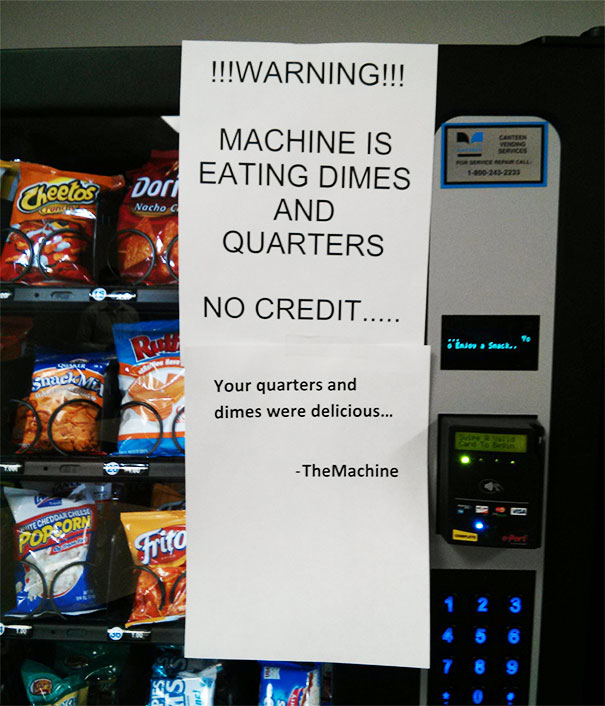 Snack Machine's Getting Hungry