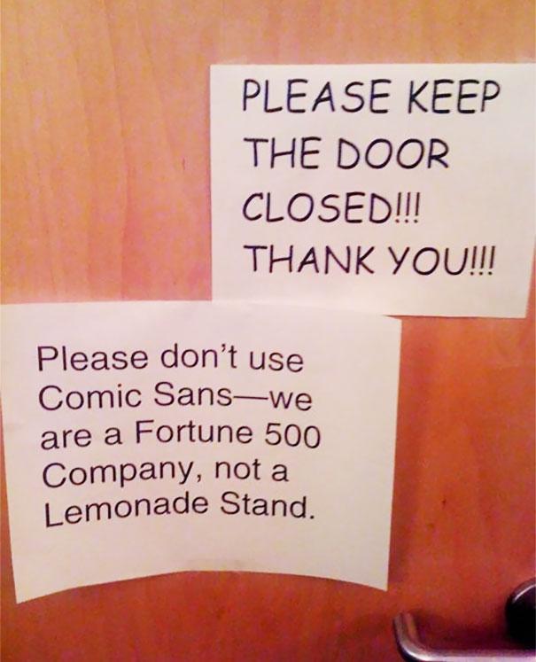 Please Keep The Door Closed