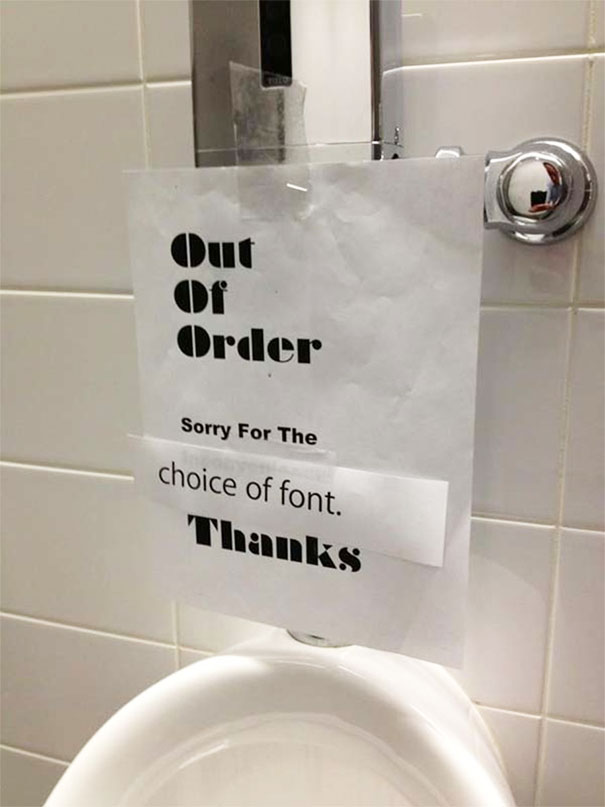 Sorry For The Choice Of Font