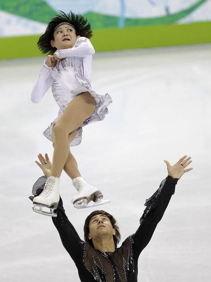 Foto kocak para ice skater