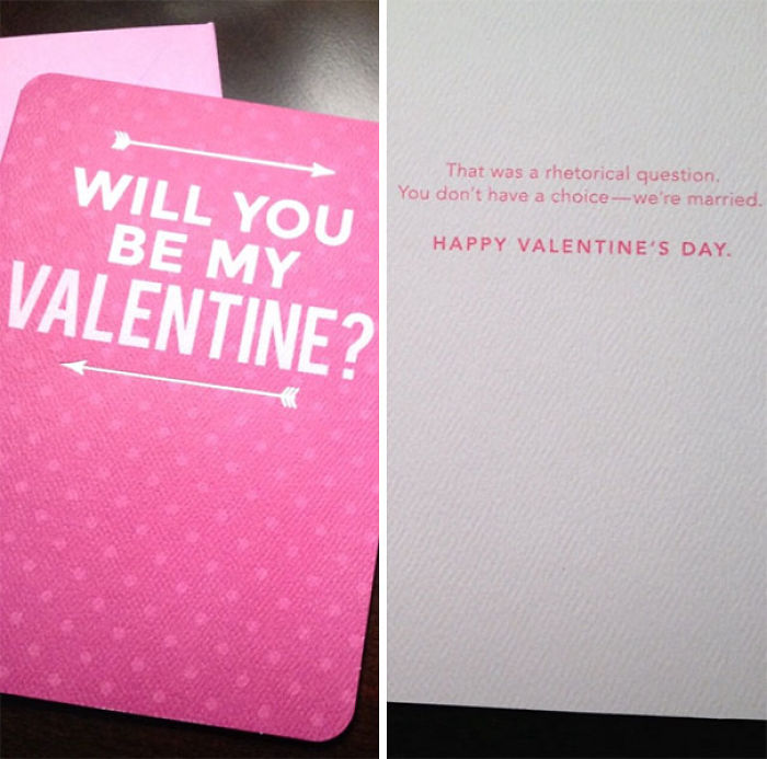 Found A Pretty Sweet Valentine's Day Card For The Husband