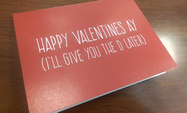I Hope My Wife Likes Her Valentine's Day Card