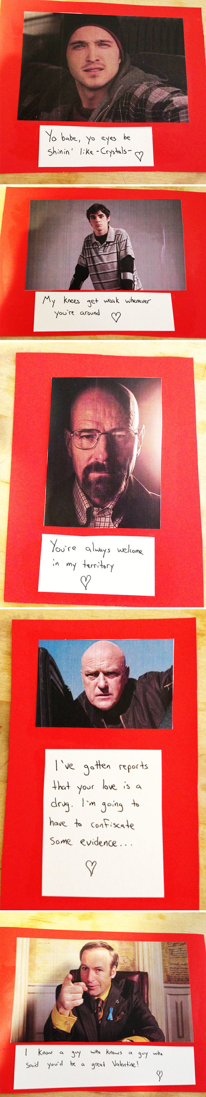 My Roommate Made Breaking Bad Valentine's Cards