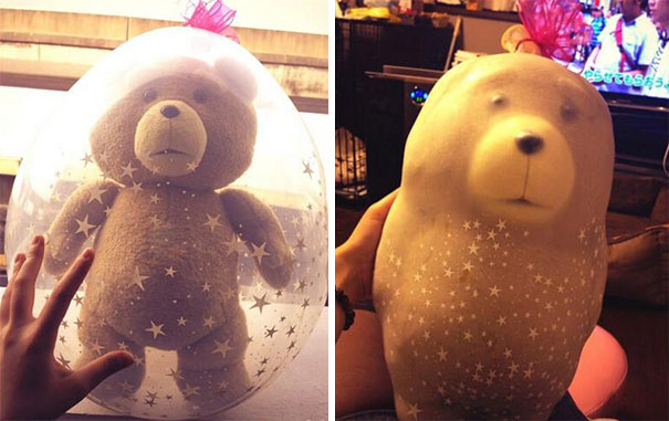 Prepared A Teddy Bear Gift Yesterday For My GF, And Now It Looks Like This