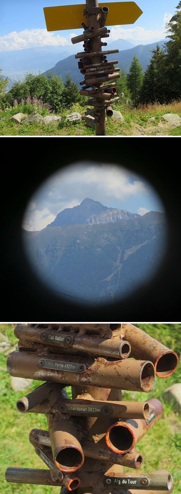Aparato para encontrar montañas en Suiza