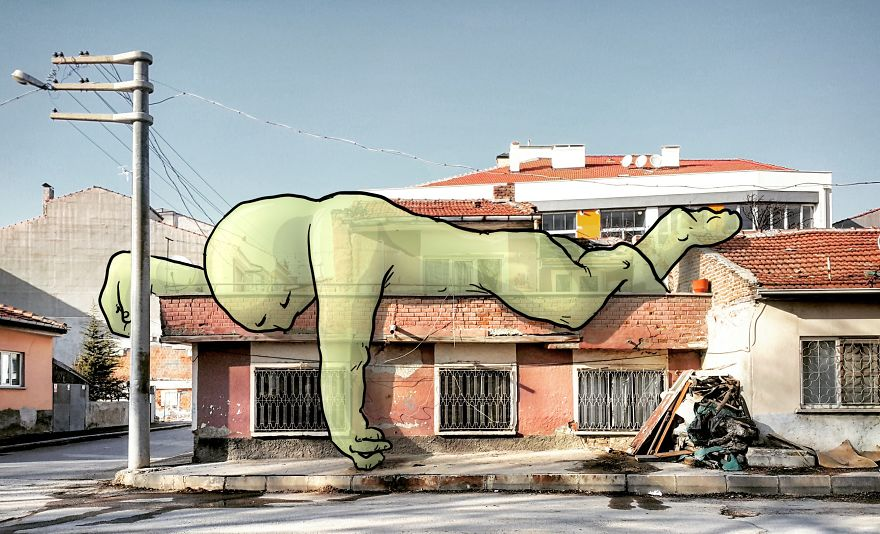 Lilliputs Series: I Draw Giants On Architectural Photos