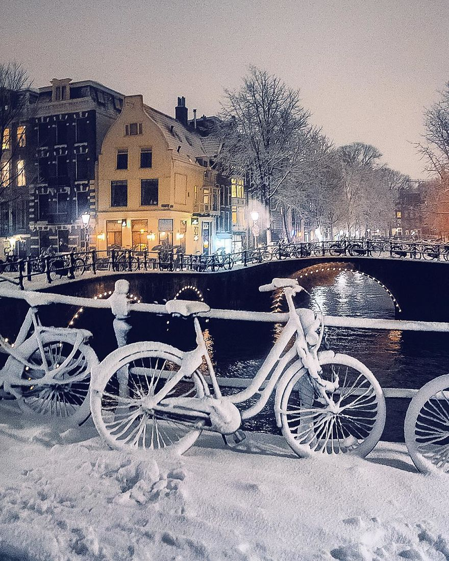 The Bike Under The Snow