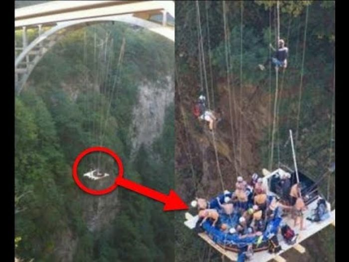 These People Suspended A Hot Tub From A Bridge In The Name Of Fun