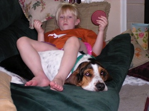 My Daughter And My Brother's Basset Hound, Calhoun, Became Fast Friends.