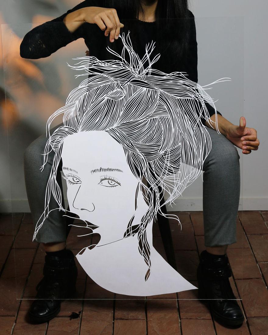 I Cut Hair On Paper