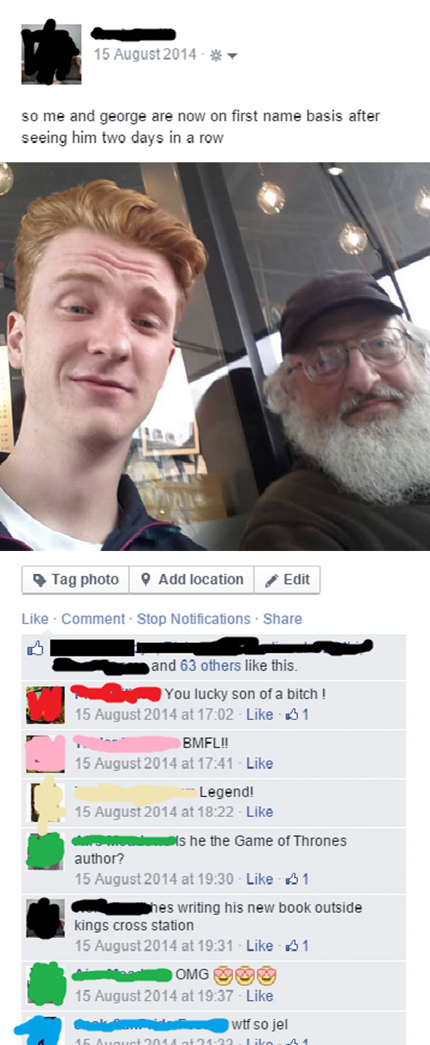 A Homeless Man Convinced Me He Was George RR Martin