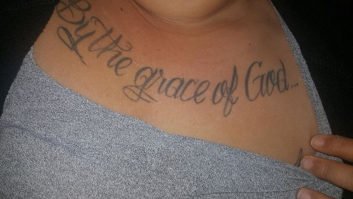 (Tattoo #1) I Got This Tattoo, By The Grace Of God On My 10th Birthday Of Being Cleaned Of Drugs.
