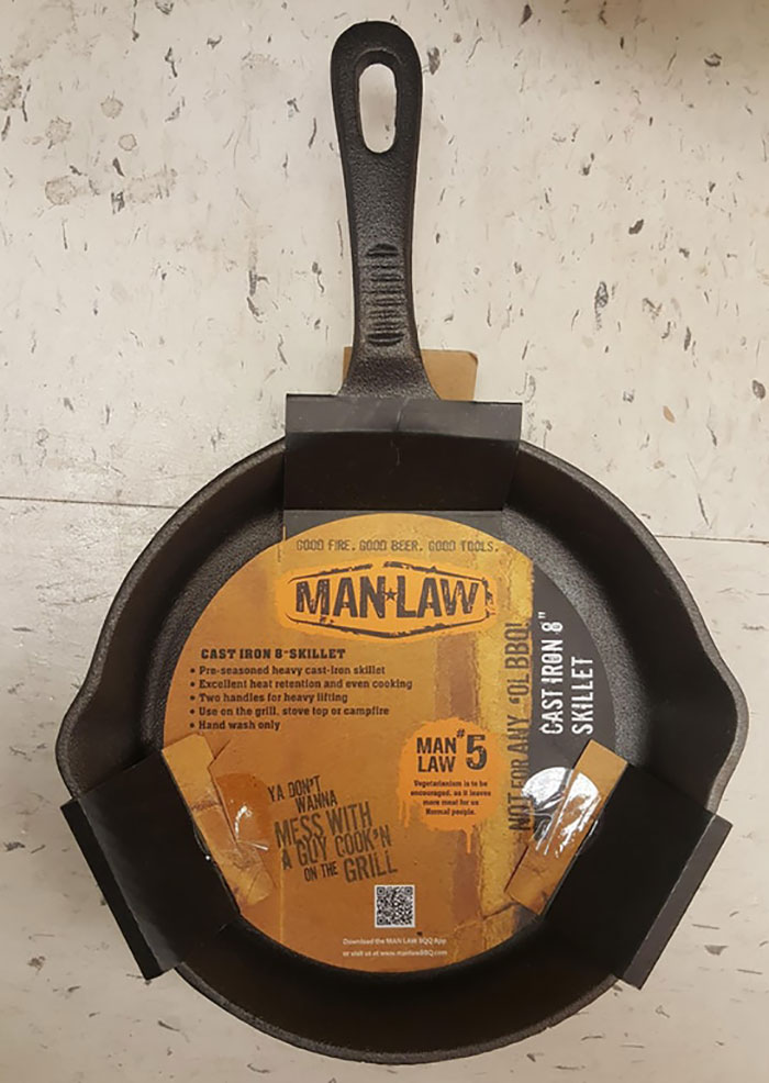 Men Can Get In Cast Iron Cooking Too!