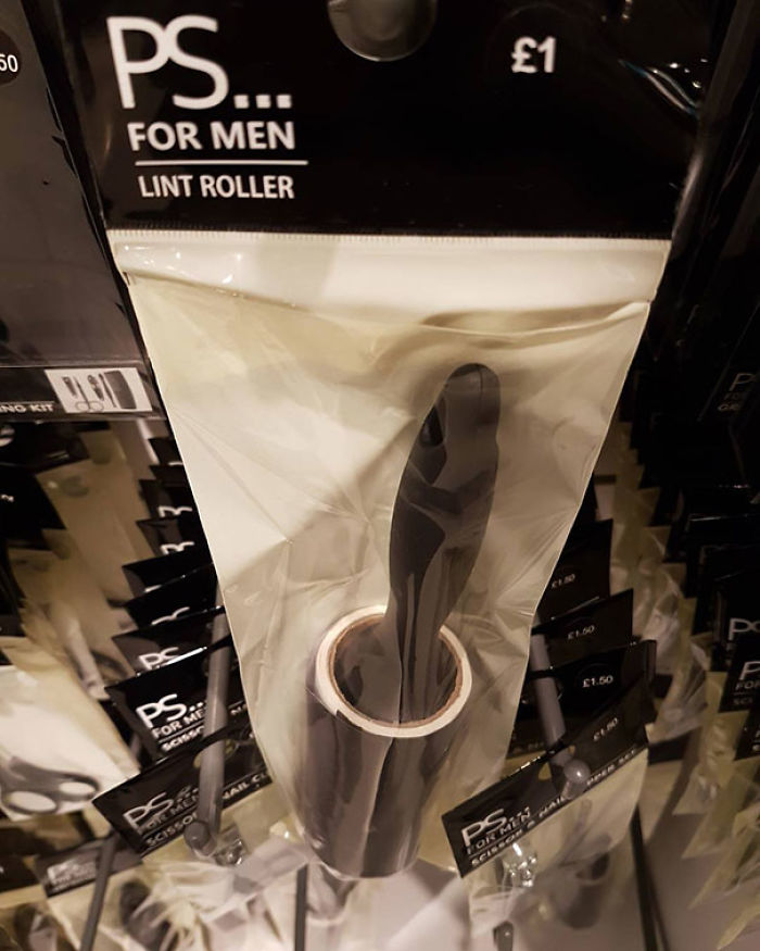 Man, Do You Need To Get That Excess Pet Hair And Fluff Off You? Then You Need The Man's Lint Roller. The Only Difference? The Color Of The First Sheet To Stop It Sticking