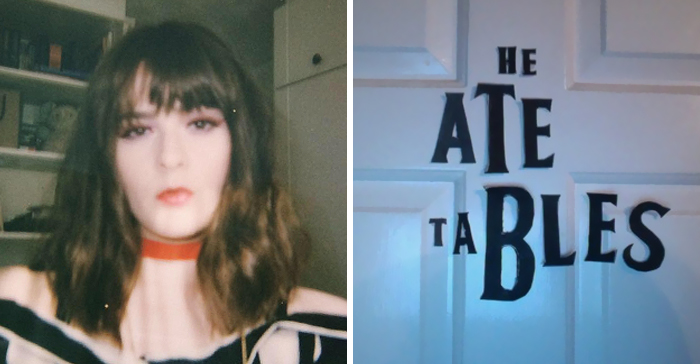 Girl Annoys Her Sister By Rearranging 'The Beatles' Letters On Her Door, And It's Hilariously Clever
