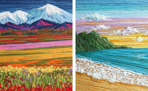25+ Colourful Landscapes That I Created Using Needle And Thread