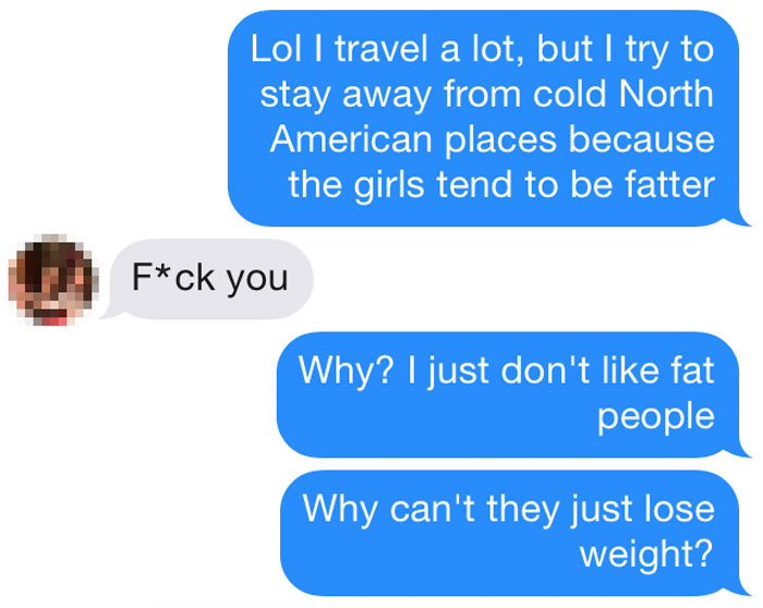 Guys on tinder fat 15 Types