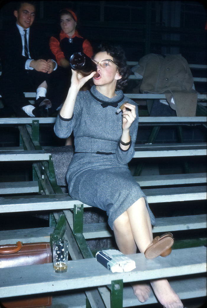 A Drink Cigar And Not Giving Good 1950s