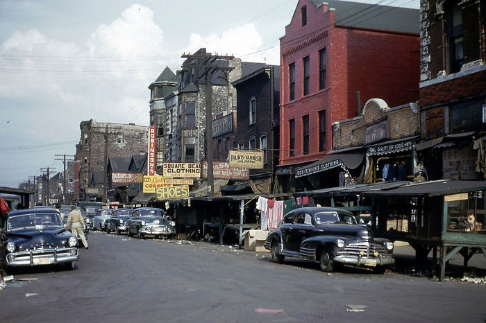 Maxwell Street, Chicago, 1953
