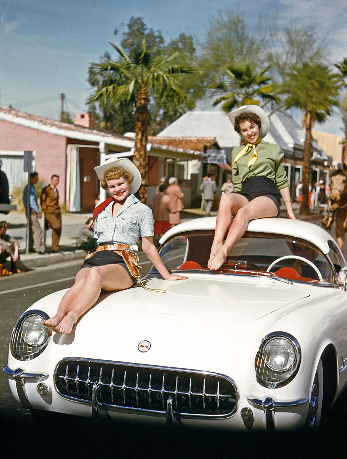 At The Parade In Palm Springs, Florida. 1955