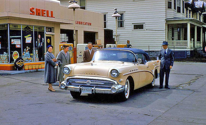 At The Gas Station, 1957
