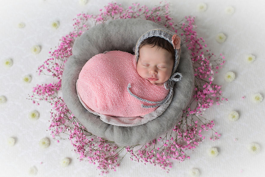 """I Incorporated """"Mandala"""" - The Symbol Of Harmony And Completeness In My Baby Photography."""