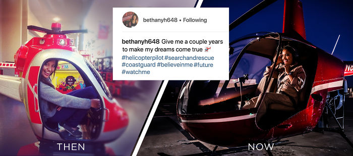 22-Year-Old Girl Turns An Instagram Wish Into A Career As A Helicopter Pilot.