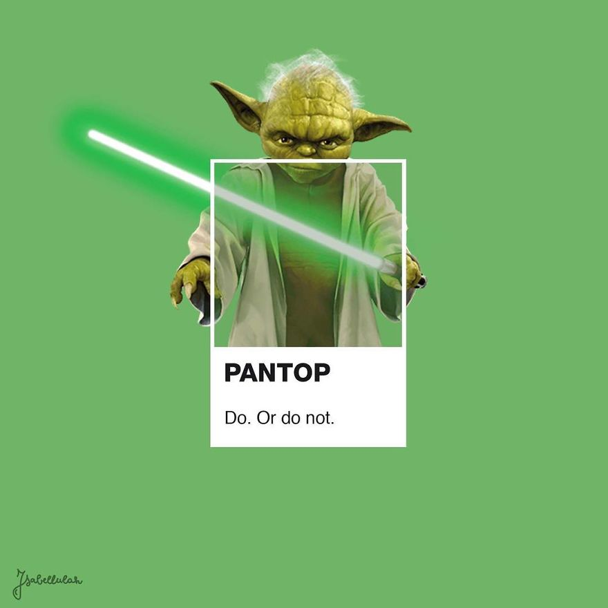 Artist Transforms Pop Culture Icons Into Pantone Samples And The Result Is Fun